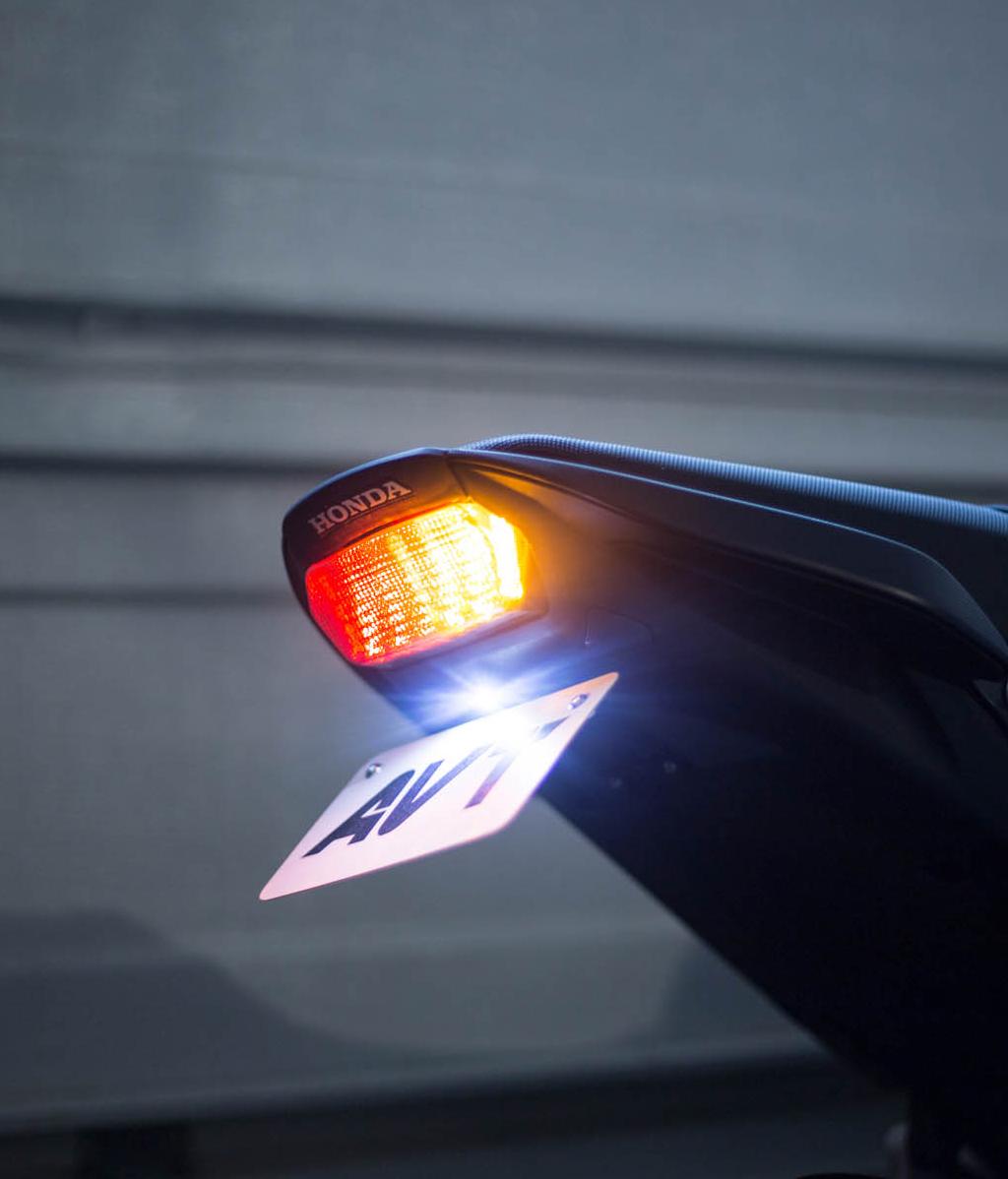 Integrated LED Turn Signals v2 AVT CB650F CBR650F Fender Eliminator Kit